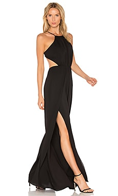 Flowy Jumpsuit With Leg Slits in Black
