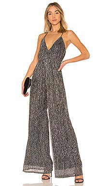 T Back Textured Jumpsuit