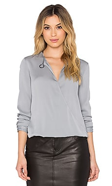 Halston Heritage Drape Neck Blouse in Haze