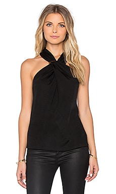Halston Heritage Cross Neck Tank in Black