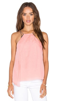 Halston Heritage High Neck Drape Top in Lotus