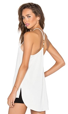Halston Heritage Double Ring Tank in Eggshell
