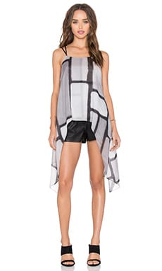 Halston Heritage Printed Cami in Black Colorblock