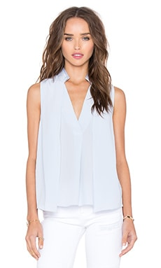 Drape Double Collar Top in Breeze