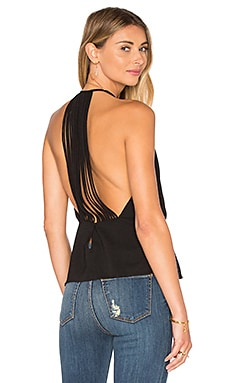 Halston Heritage Strappy Back Tank in Black