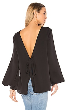 Deep V Back Top in Black
