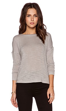 Halston Heritage Back Wrap Drape Top in Mist