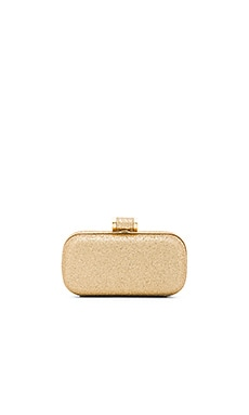 Halston Heritage Oblong Minaudiere Clutch in Gold