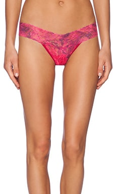 Hanky Panky Red Rose Low Rise Thong in Red
