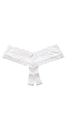 Hanky Panky Princess Lace Open Panty in Ivory