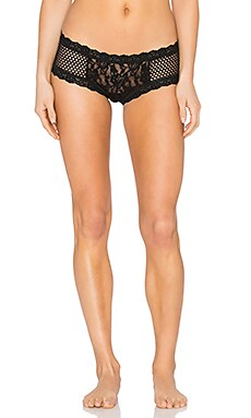Hanky Panky New Attitude Boyshort in Black & Black