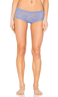 Signature Lace Boyshort in Chambray
