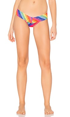 Rainbow Stripe Low Rise Thong in Multi