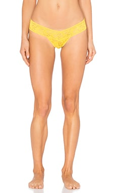 Signature Lace Low Rise Thong in Sunkissed