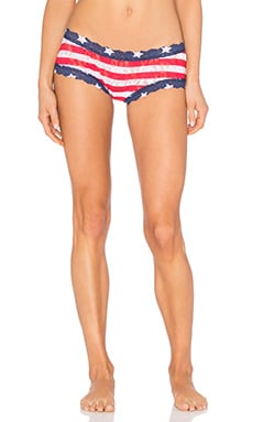 Stars & Stripes Boyshort in Red & White
