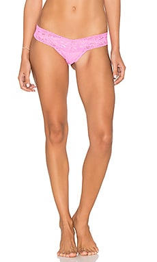 Low Rise Thong in Enchanted Rose