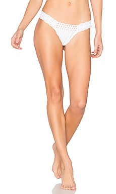 Eyelet Diamond Low Rise Thong in White