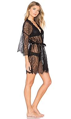 Alexandra Lace Robe in Black