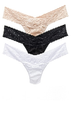 Low Rise Thong 3 Pack Hanky Panky $60