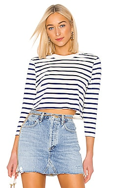 The Long Sleeve Stripe Crop Tee Hanes x Karla $60