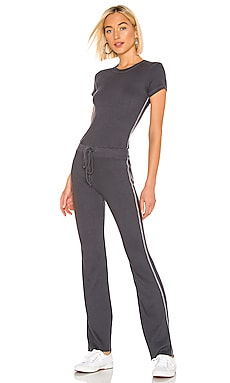 Rib Fitted Tee Jumpsuit MONROW $117
