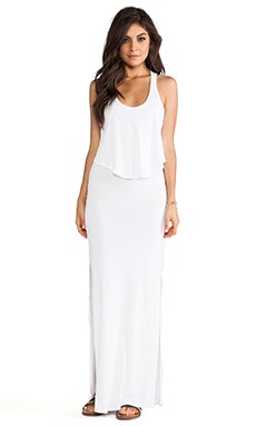 MONROW Cotton Modal Double Crop Maxi in White