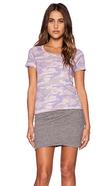 MONROW Camo Tee Shirt Dress in Lavender