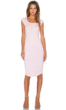 MONROW Permanent Collection Cap Sleeve Dress in Cherry Blossom