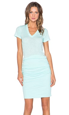 MONROW V Neck Dress in Mist