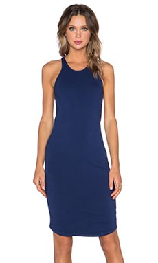 MONROW Sporty Tank Dress in Navy