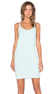 MONROW Solid Slip Dress in Mist