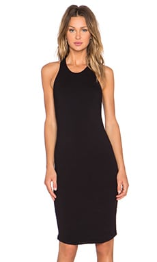MONROW Sporty Tank Dress in Black