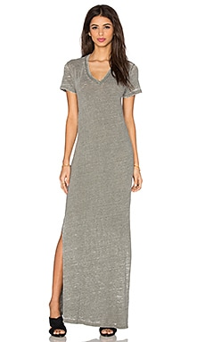 V Neck Slit Dress in Camo