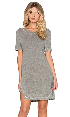 MONROW x REVOLVE Vintage Burn Out Oversized Tee Dress in Camo