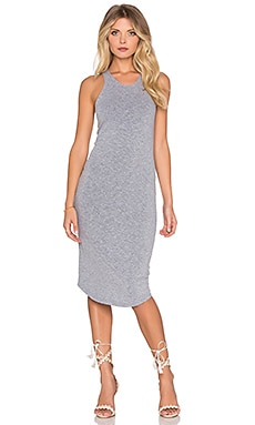 MONROW Sporty Tank Dress in Granite