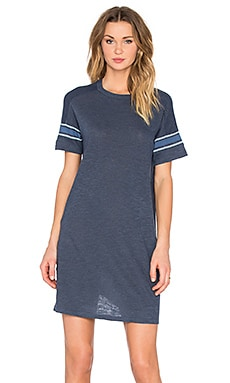 Sporty Oversized Tee Dress in Jean Blue