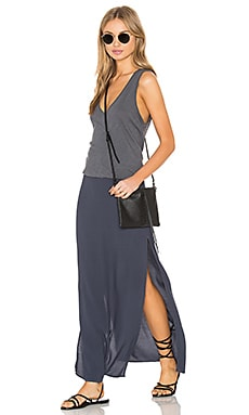 Deep V Maxi Dress in Vintage Black