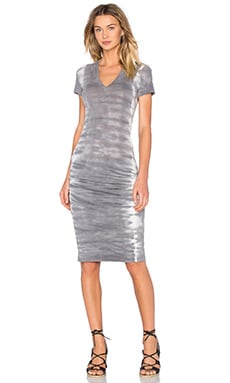 Fishbone V Neck Dress