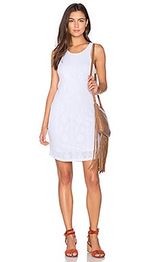 Stretch Tank Dress in White