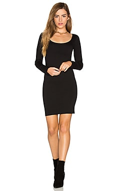 Long Sleeve Mini Dress en Noir