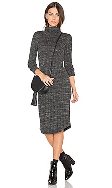 Turtleneck Dress in Charcoal