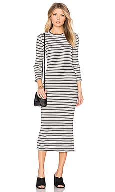 Stripe Sweater Dress in Black & White