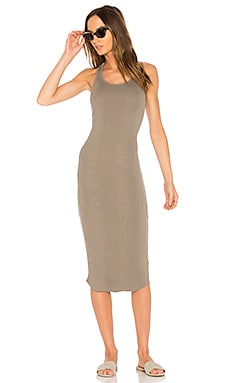 Scoop Neck Rib Tank Dress