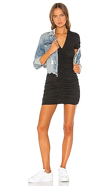 Shirred V Dress MONROW $148