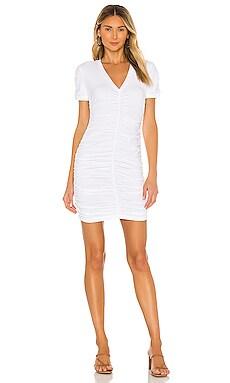 Shirred V Dress MONROW $78