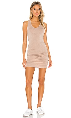 Supersoft Tank Shirred Dress MONROW $146 NEW ARRIVAL