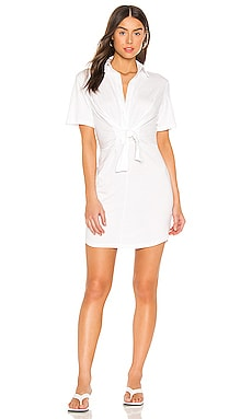 Jersey Shirt Dress With Front Tie MONROW $84