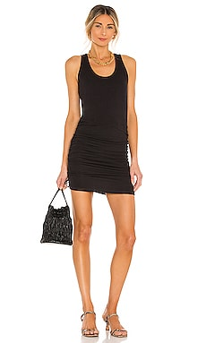 Supersoft Tank Shirred Dress MONROW $146 NEW
