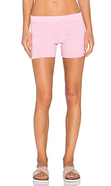 MONROW Vintage Basics Foldover Short in Pink