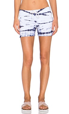 MONROW Bamboo Tie Dye Short in Surf